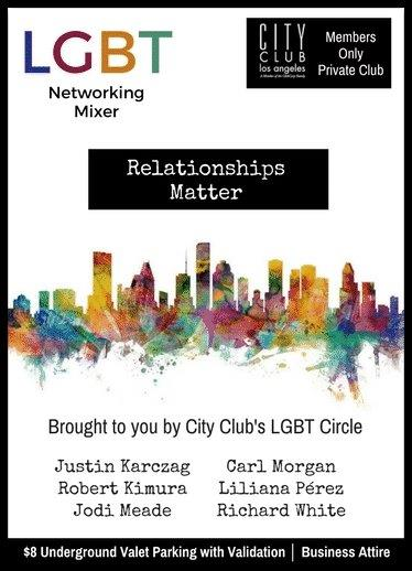 City Club Los Angeles | LGBT Networking Mixer: Relationships Matter